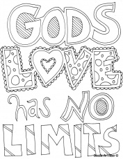 Gods Love Has No Limits Coloring Page