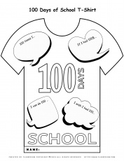 Days Of School Coloring Page T Shirt Planerium Scaled Pages And Worksheets  Activities For Kindergarten Free Printable – Slavyanka