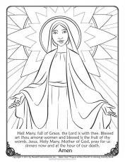 Very Easy First Reconciliation Coloring Pages