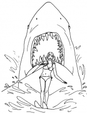 Movie Poster Jaws Coloring Pages : Best Place to Color | Coloring pages,  Coloring pictures, Movie posters