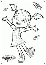 Printable Disney Junior Vampirina Coloring Pages