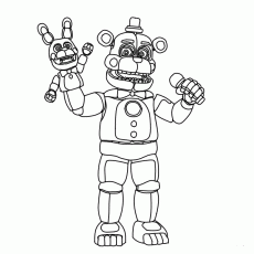 Funtime Freddy FNAF Coloring Pages | Fnaf coloring pages ...