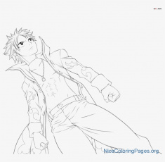 Natsu Dragneel Coloring Pages N8 - Free Transparent PNG Download ...