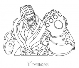 Thanos Coloring Pages | Avengers coloring pages, Coloring ...
