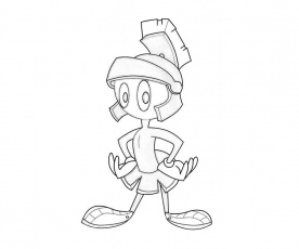 Marvin The Martian Coloring Page Coloring Home