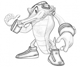 coloring page - vector the crocodile - coloring home  coloring home
