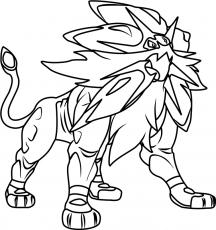 Solgaleo coloring pages