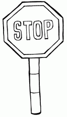 Stop Sign Coloring Page Coloring Home