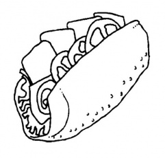 Sandwich coloring pages