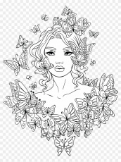 Free Adult Coloring Page - Girl Coloring Pages For Adults Clipart ...