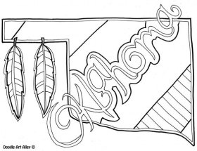 Oklahoma Coloring Page by Doodle Art Alley | USA Coloring Pages ...