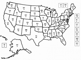 Printable United States Maps Outline And Capitals Outline Map Of - Us state map without names
