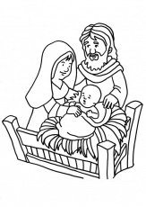 Coloring page Birth of Jesus - img 18661.
