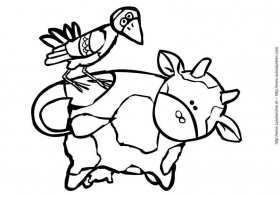 Coloring page cow 3 - img 6780.