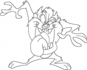 coloring pages of taz