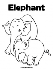 pictures of baby elephant Colouring Pages (page 2)