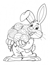Easter Bunny Coloring Pages and Book | UniqueColoringPages