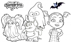 Disney Vampirina Coloring Page Collection | Baby coloring pages ...