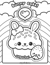 Cute Cupcakes - Coloring Pages for Kids and for Adults