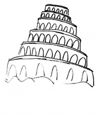Amazing Tower of Babel Coloring Page: Amazing Tower of Babel ...