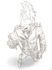 Online Ghost Rider Printable Coloring Page | Superheroes Coloring ...