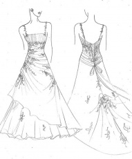 Other Printable Wedding Dress Coloring Pages Coloring Tone