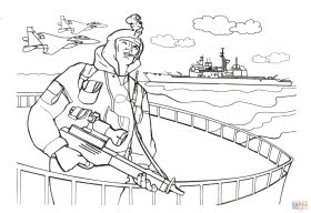 Navy SEALs soldier coloring page | Free Printable Coloring Pages