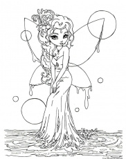 Beautiful Fairies Coloring Pages For Adults - Coloring Pages For ...