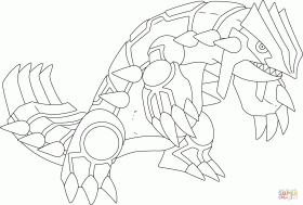 Groudon Pokemon coloring page | Free Printable Coloring Pages
