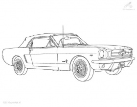 Free coloring pages - Muscle Car Coloring Pages