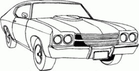 car printable coloring pages - Printable Kids Colouring Pages - Muscle Car Coloring Pages
