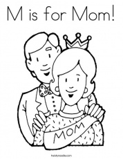 M is for Mom Coloring Page - Twisty Noodle
