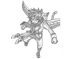 Fairy Tail Natsu Coloring Pages