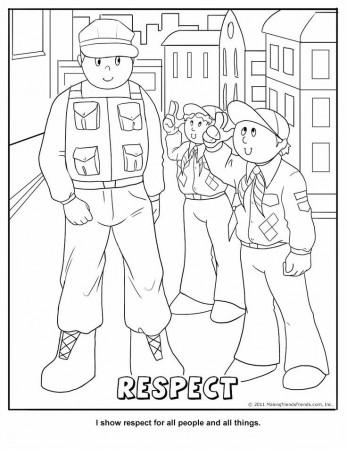 Cub Scout Citizenship Coloring Page 188248 Cub Scout Coloring