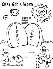 10 Commandment Coloring Pages 3 | Free Printable Coloring Pages