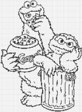 Cookie Monster Face Coloring Pages Free Coloring Pages 215594