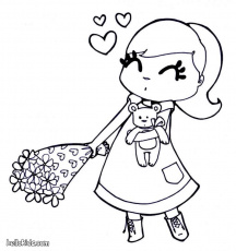 VALENTINE'S DAY coloring pages - Valentines bunch