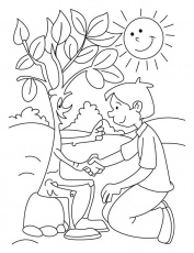 Shaking hand with tree coloring pages | Download Free Shaking hand
