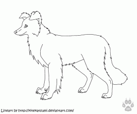 Free Puppy Lineart II by AnoOrca on deviantART