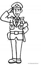Police man color page, family people jobs coloring pages, color ...