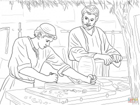 Jesus Raises Widow's Son coloring page | Free Printable Coloring Pages