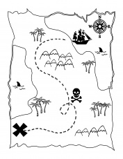pirate map coloring pages printable