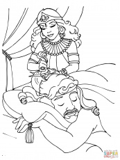 samson and delilah story coloring pages