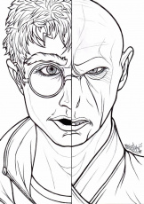 Harry potter vs voldemort coloring pages
