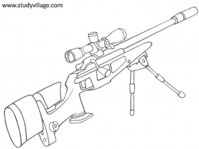 Military Weapon coloring page for kids 24