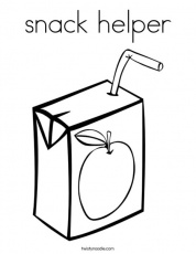 snack helper Coloring Page - Twisty Noodle