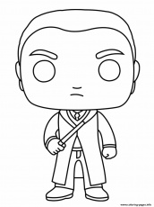 Draco Lucius Malfoy In Slytherin House Coloring Pages Printable