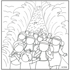 Moses Parting The Red Sea Coloring Page - Auromas.com