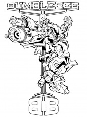 Coloring Pages : Transformers Bumblebee Coloring Picture ...