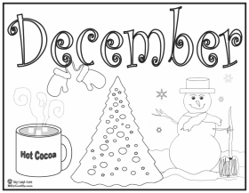 The Philosopher S Wife 10 December Coloring Pages For December Coloring Pages
